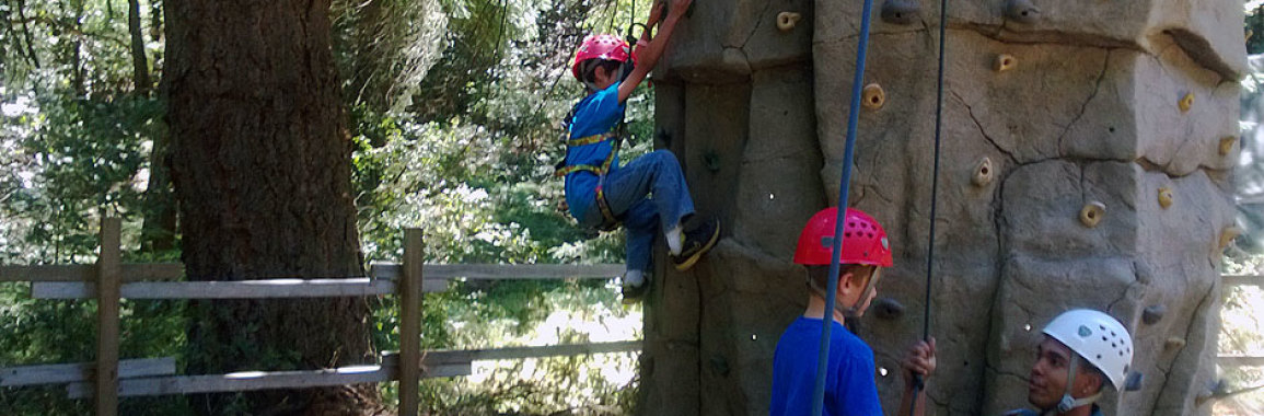 Rock climbing at Webelos Camp