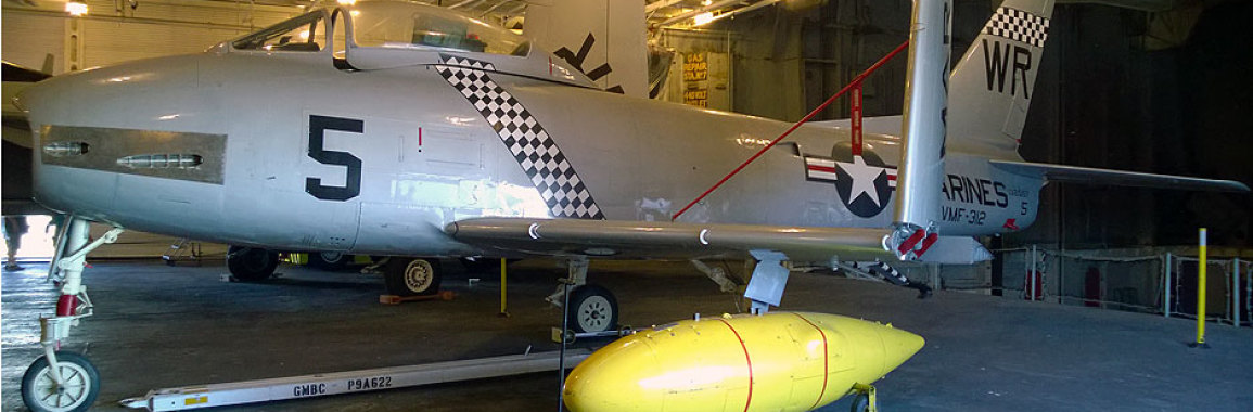 F-86 Sabre aboard the USS Hornet